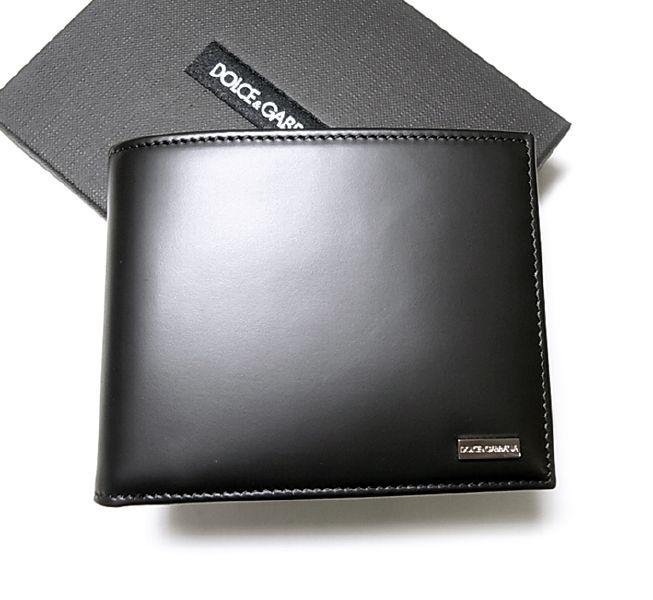 a1285ee08e51 PhotoNo.1 ドルチェ&ガッバーナ ヴィテロクラシック 二つ折財布(ブラック) ...