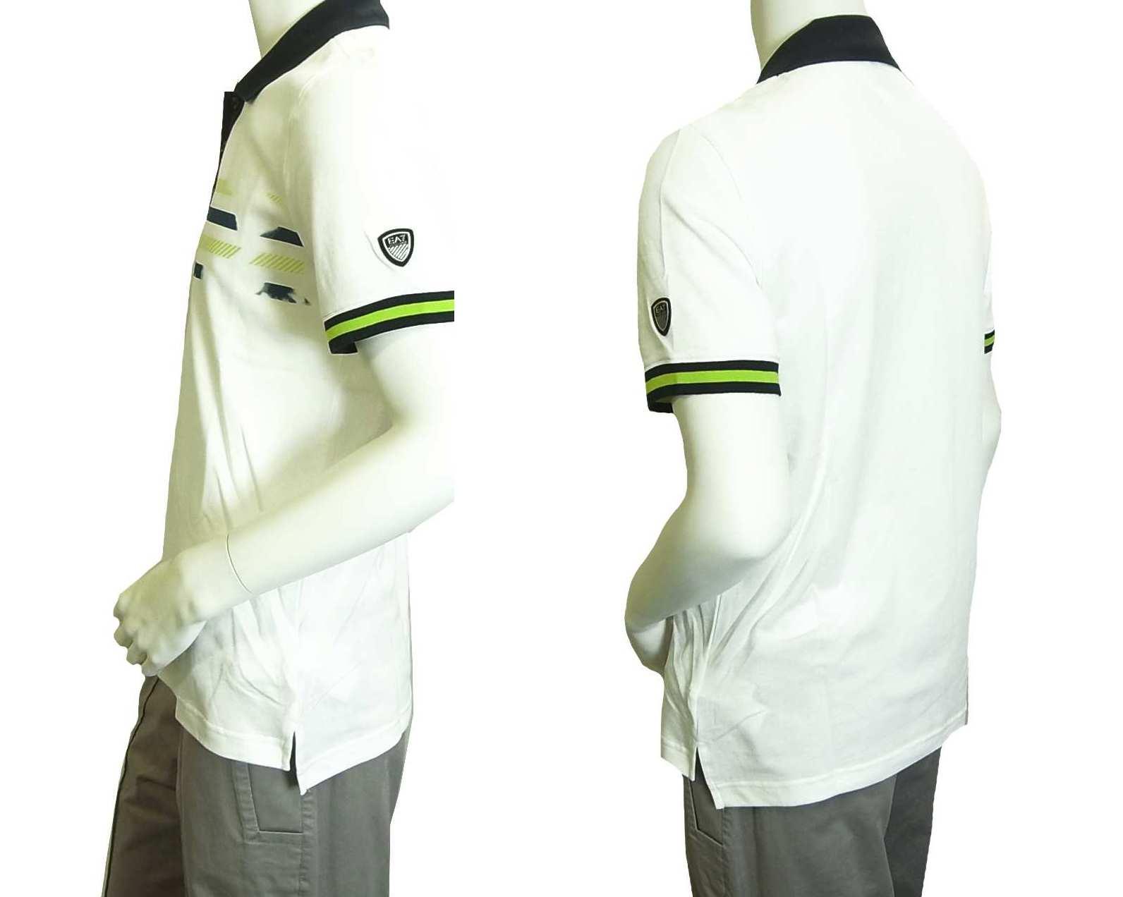 newest 9fd66 55d83 ポロシャツ ホワイト ゴルフ メンズ Lサイズ エンポリオアルマーニ EA7