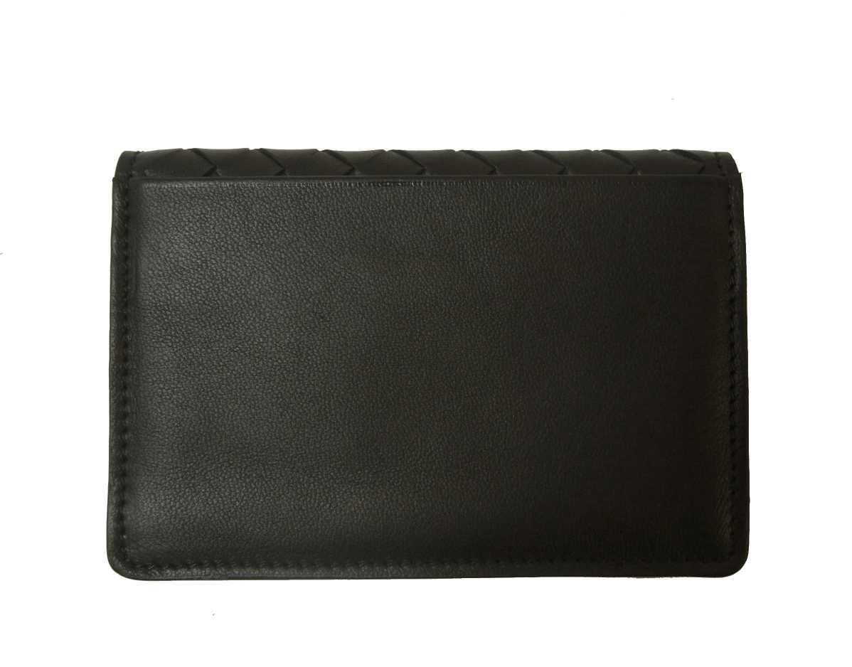 premium selection acb1a 53205 名刺入れ カードケース イントレチャート 羊革 (ブラック)