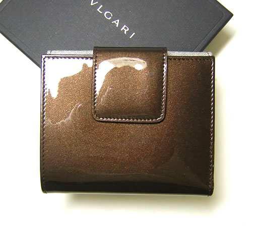9da40e4bde9a ブルガリ ] レオーニ 二つ折Wホック財布(モカ) - BG-977