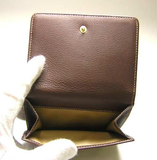79d16e15d3b8 ... PhotoNo.5 ブルガリ レオーニ 二つ折Wホック財布(モカ)