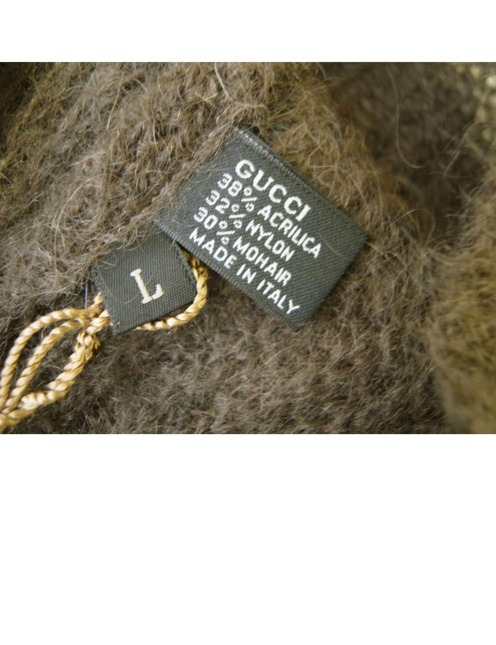 size 40 00cb5 b9d92 帽子 ニットキャップ ラインデザイン(ブラウン)Lサイズ
