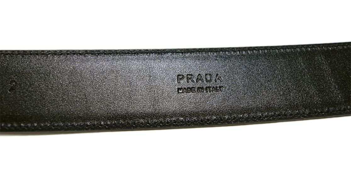 6b2ec2131bac [ プラダ ] ベルト レザー メンズ (ブラック) 110cm - P-4160
