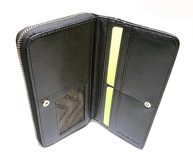 d567082e8ab9 ... PhotoNo.5 ジャンニヴェルサーチ ヴェルサーチジーンズ ラウンドファスナー長財布(ブルー×ブラック) ...