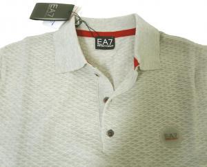 No.8 ポロシャツ ライトグレー ゴルフ メンズ エンポリオアルマーニ EA7