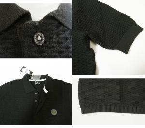 No.5 ポロシャツ ゴルフ メンズ ブラック エンポリオアルマーニ EA7