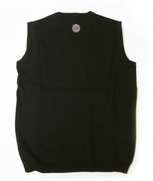 No.3 ベスト ゴルフ (ブラック + ホワイト)Lサイズ エンポリオアルマーニ EA7
