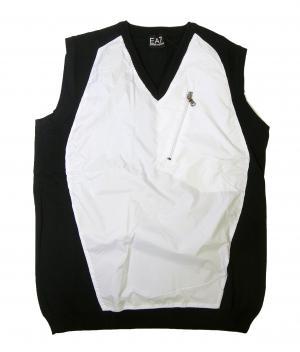 アルマーニ ベスト ゴルフ (ブラック + ホワイト)Lサイズ エンポリオアルマーニ EA7