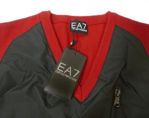 No.2 ベスト ゴルフ (レッド + ブラック) メンズ エンポリオアルマーニ EA7