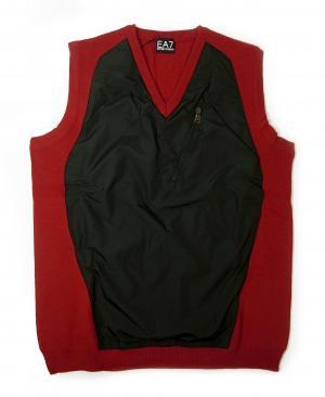 アルマーニ ベスト ゴルフ (レッド + ブラック) Lサイズ  メンズ エンポリオアルマーニ EA7