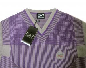 No.2 ベスト (パープル + グレー) Lサイズ ゴルフ用 エンポリオアルマーニ EA7
