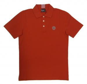 エンポリオアルマーニ ポロシャツ レッド ゴルフ メンズ Sサイズ  EA7