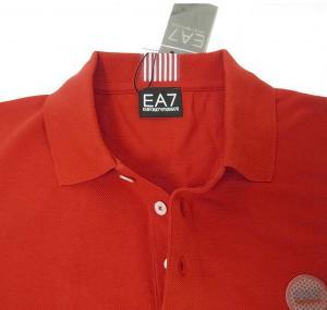 No.5 ポロシャツ レッド ゴルフ メンズ Sサイズ エンポリオアルマーニ EA7