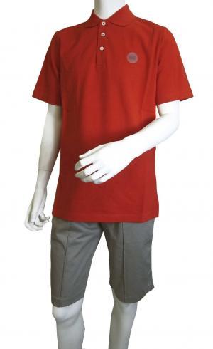No.6 ポロシャツ レッド ゴルフ メンズ Sサイズ エンポリオアルマーニ EA7