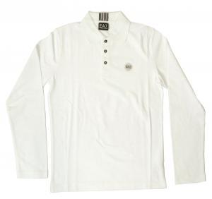 エンポリオアルマーニ ポロシャツ ゴルフ メンズ ホワイト Sサイズ  EA7