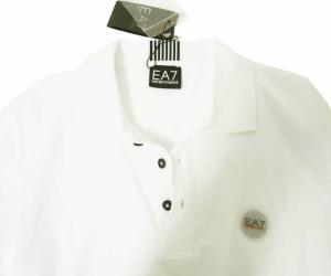 No.5 ポロシャツ ゴルフ メンズ ホワイト Sサイズ エンポリオアルマーニ EA7