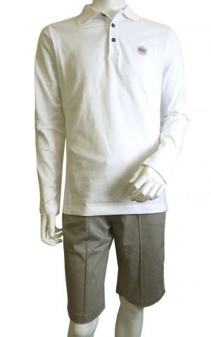 No.7 ポロシャツ ゴルフ メンズ ホワイト Sサイズ エンポリオアルマーニ EA7