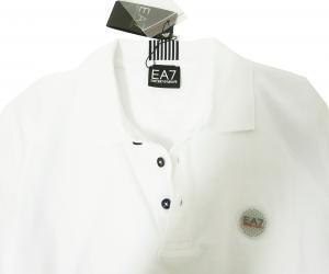 No.8 ポロシャツ ゴルフ メンズ ホワイト エンポリオアルマーニ EA7