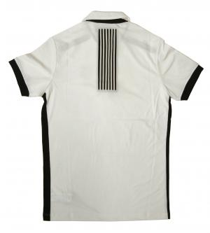 No.2 ポロシャツ (ホワイト) Lサイズ 速乾素材 ゴルフ用 EA7
