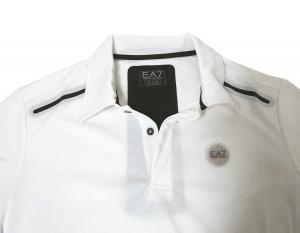 No.3 ポロシャツ (ホワイト) Lサイズ 速乾素材 ゴルフ用 EA7