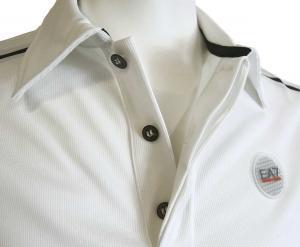 No.4 ポロシャツ (ホワイト) Lサイズ 速乾素材 ゴルフ用 EA7