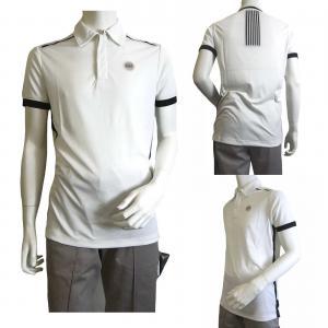 No.6 ポロシャツ (ホワイト) Lサイズ 速乾素材 ゴルフ用 EA7