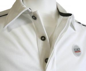 No.8 ポロシャツ (ホワイト) 速乾素材 ゴルフ用 EA7