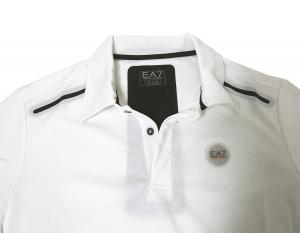 No.9 ポロシャツ (ホワイト) 速乾素材 ゴルフ用 EA7