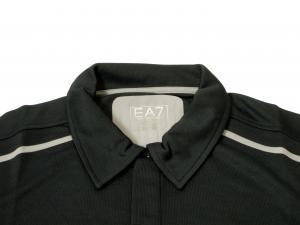 No.3 ポロシャツ 速乾素材 ゴルフ EA7 (ダークスレート) Sサイズ