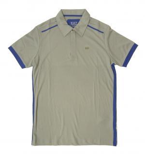 アルマーニ ポロシャツ グレー 速乾素材 ゴルフ用 EA7