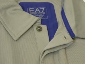 No.4 ポロシャツ グレー 速乾素材 ゴルフ用 EA7