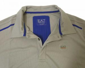 No.5 ポロシャツ グレー 速乾素材 ゴルフ用 EA7
