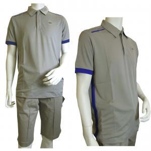 No.6 ポロシャツ グレー 速乾素材 ゴルフ用 EA7