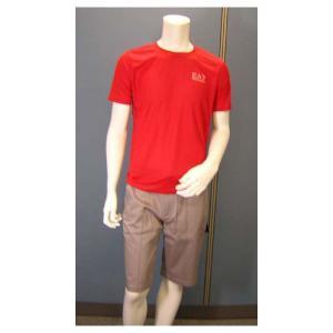 No.2 Tシャツ メンズ レッド エンポリオアルマーニ EA7