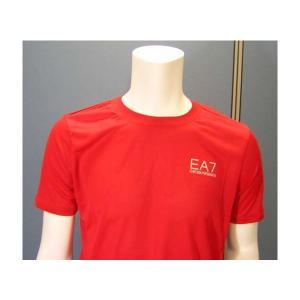 No.3 Tシャツ メンズ レッド エンポリオアルマーニ EA7