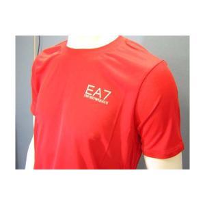 No.4 Tシャツ メンズ レッド エンポリオアルマーニ EA7