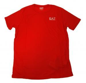 アルマーニ Tシャツ メンズ レッド エンポリオアルマーニ EA7