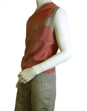 No.7 ベスト (レッド + グレー) ゴルフ 用  Lサイズ エンポリオアルマーニ