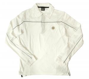 エンポリオアルマーニ 長袖 ポロシャツ ホワイト ゴルフ Mサイズ  EA7