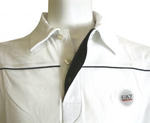 No.10 長袖 ポロシャツ ホワイト ゴルフ Mサイズ エンポリオアルマーニ EA7