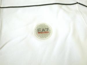 No.3 長袖 ポロシャツ ホワイト ゴルフ Mサイズ エンポリオアルマーニ EA7