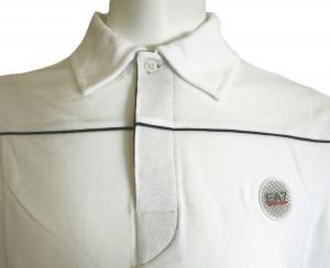 No.6 長袖 ポロシャツ ホワイト ゴルフ Mサイズ エンポリオアルマーニ EA7