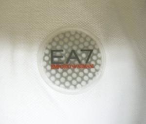 No.7 長袖 ポロシャツ ホワイト ゴルフ Mサイズ エンポリオアルマーニ EA7