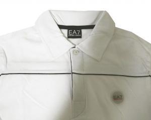 No.8 長袖 ポロシャツ ホワイト ゴルフ Mサイズ エンポリオアルマーニ EA7