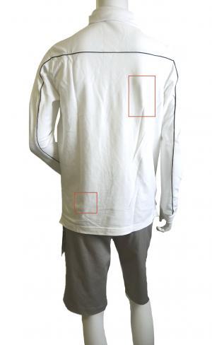 No.5 <訳ありお値引> EA7 ゴルフ ポロシャツ 長袖 Mサイズ