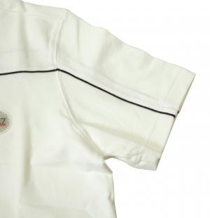 No.3 ポロシャツ ホワイト ゴルフ メンズ Mサイズ エンポリオアルマーニ EA7