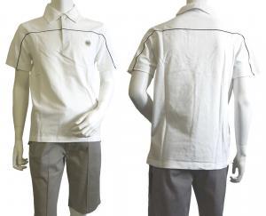 No.6 ポロシャツ ホワイト ゴルフ メンズ Mサイズ エンポリオアルマーニ EA7
