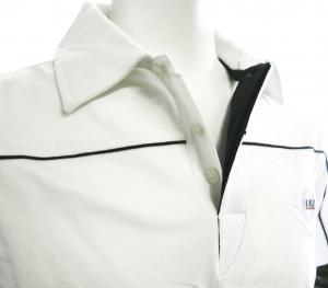 No.7 ポロシャツ ホワイト ゴルフ メンズ Mサイズ エンポリオアルマーニ EA7