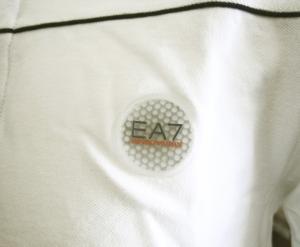 No.8 ポロシャツ ホワイト ゴルフ メンズ Mサイズ エンポリオアルマーニ EA7