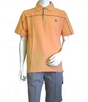 No.5 ポロシャツ サーモンピンク ゴルフ メンズ エンポリオアルマーニ EA7